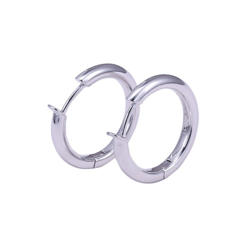 Silver Naked Hoop Earrings