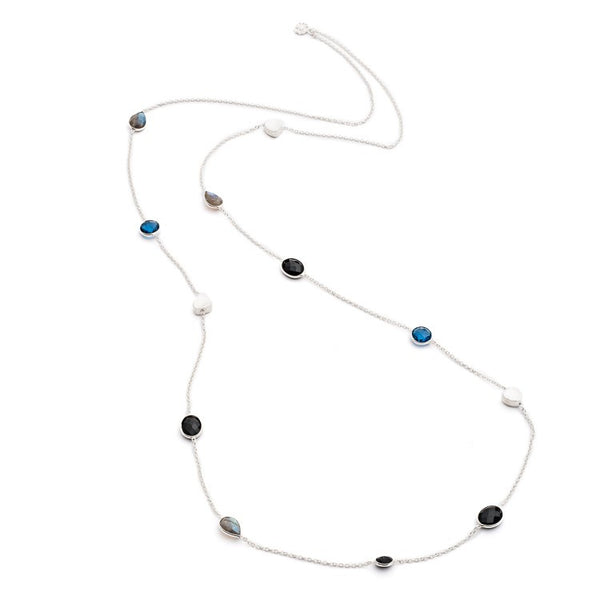 Silver Semi-Precious Penelope Necklace