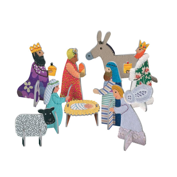 Pop & Slot Nativity Scene Decoration