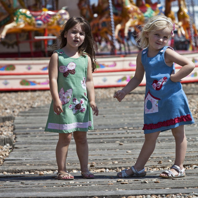 Corduroy Dresses with Owl Applique
