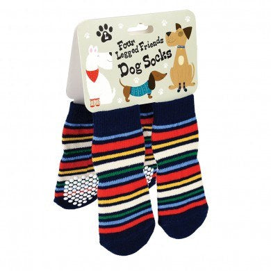 Large Stripy Dog Socks