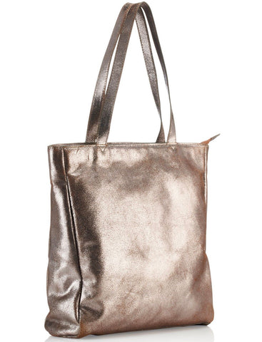 Tote Bag Metallic Light Gold