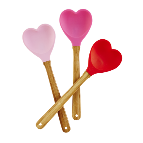 Silicone Heart Shaped Spoons