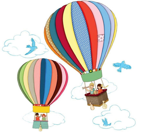 Belle & Boo Hot Air Balloon Wall Sticker