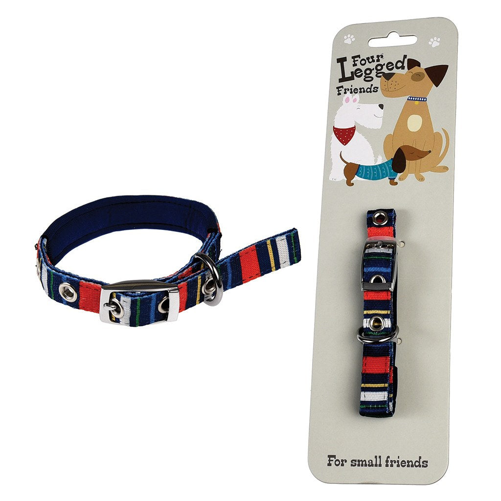 Small Stripy Dog Collar