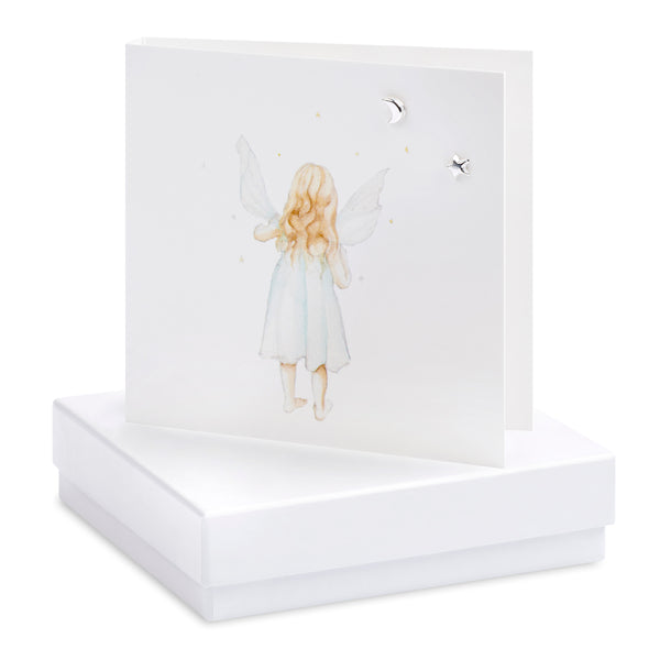Boxed Fairy Silver Earring Card