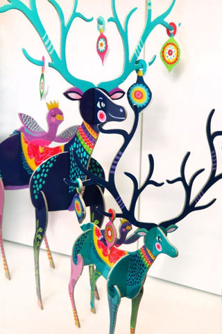 Pop & Slot Folksy Reindeer Large