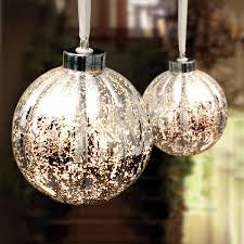 Antique Silver Bauble Lamp
