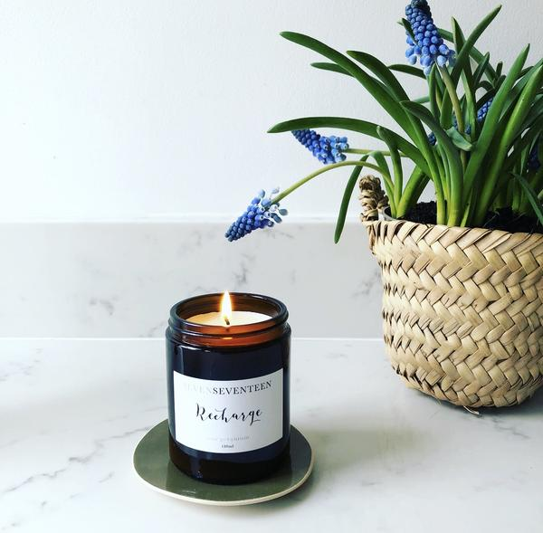 Rose Geranium Scented Candle Recharge