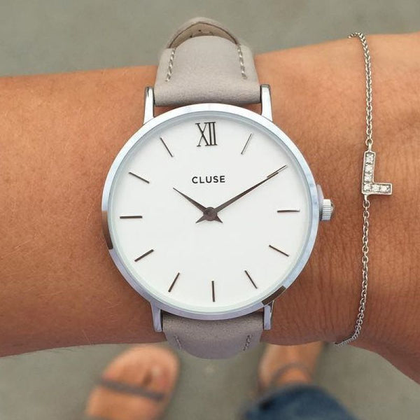 Grey Minuit Silver CLUSE Watch