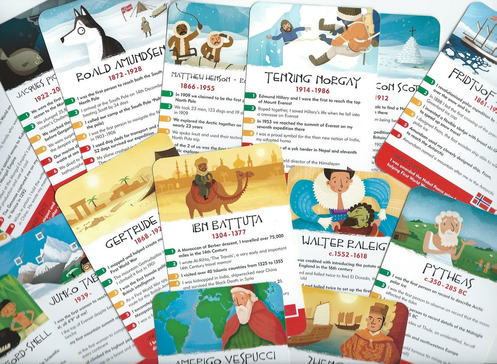 Explorers Quiz Card Game - Award Winning!