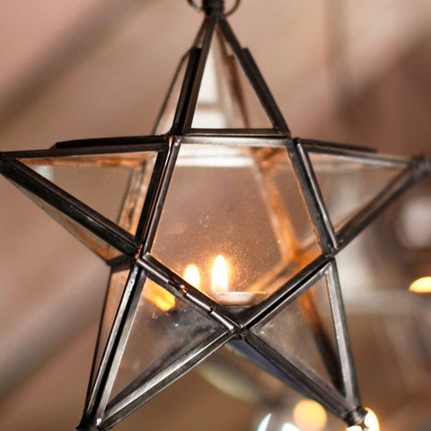Antique Zinc Glass Stars