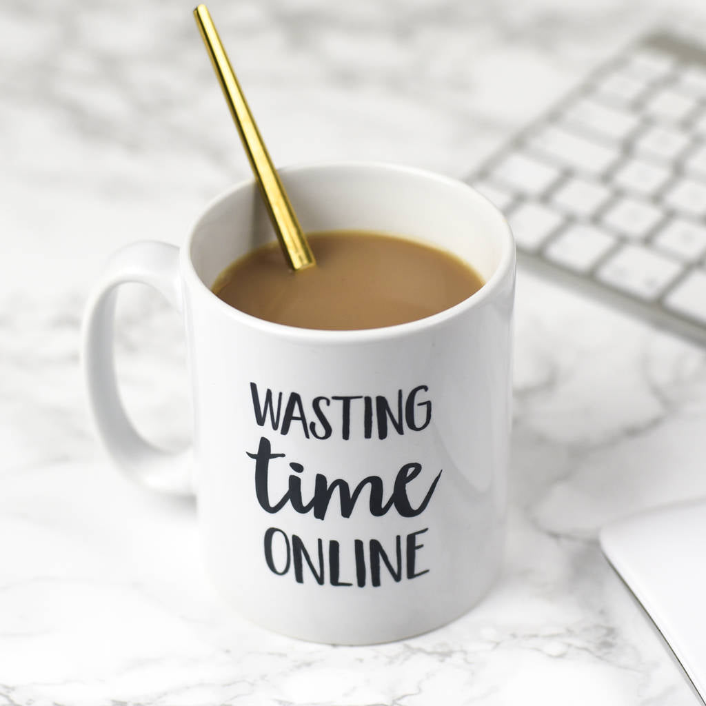 Wasting Time Online Mug