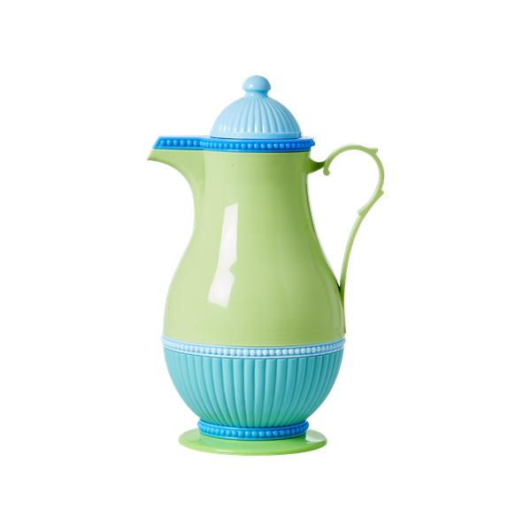 Blue/Green Retro Thermos Jug 1L