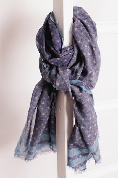 Blue Diamond Fine Wool Scarf