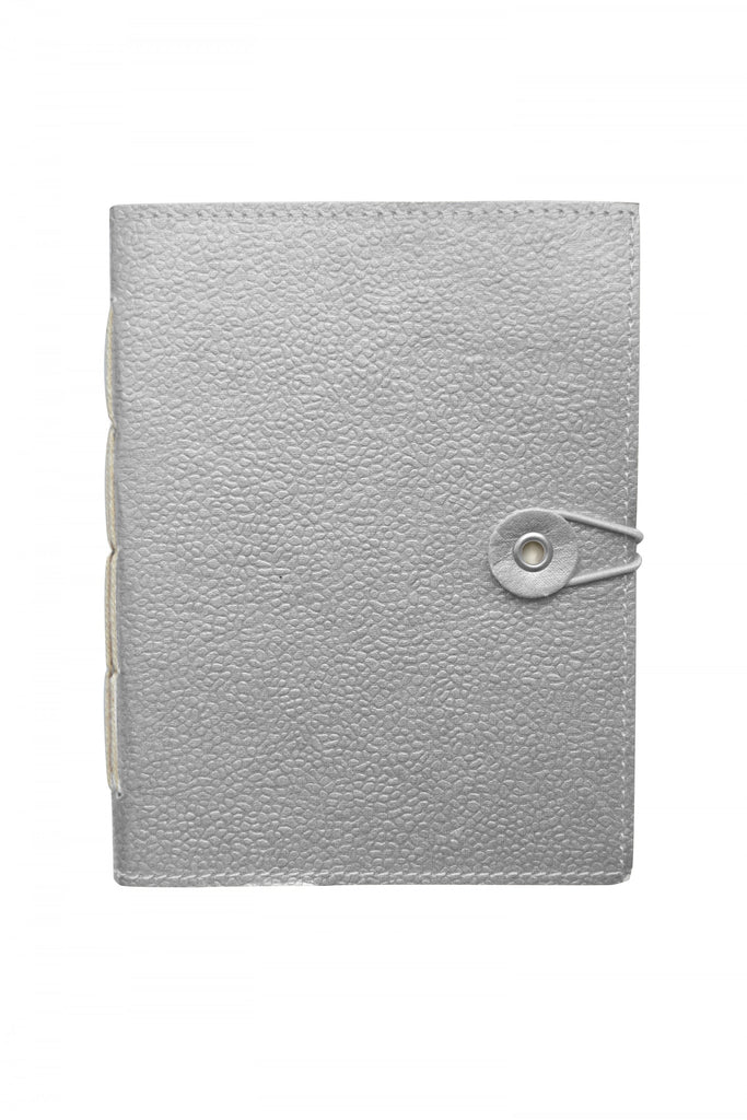 Silver Hand Stitched Notebook