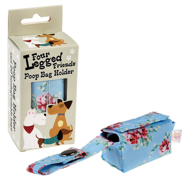 English Rose Dog Poop Bag Holder