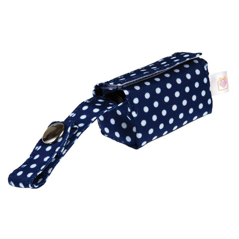 Blue Polka Dot Dog Poop Bag Holder