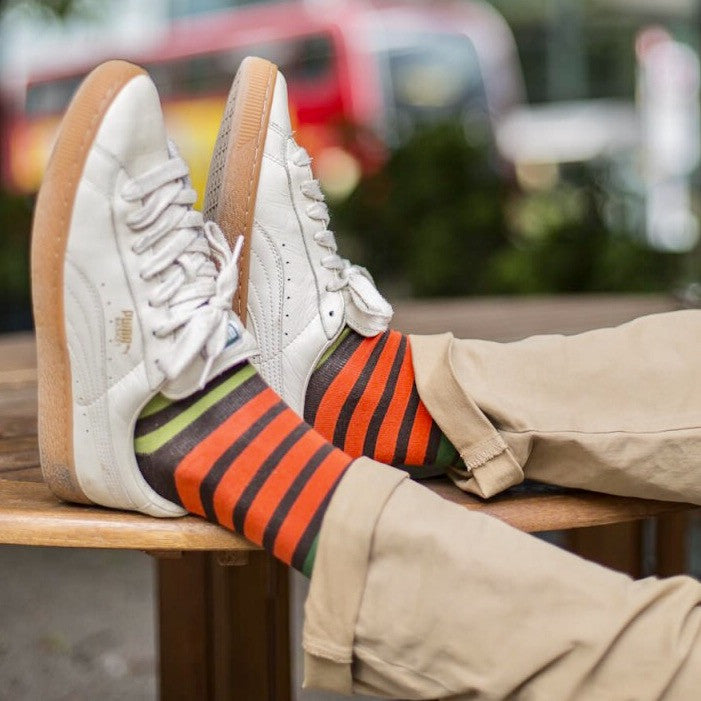 Multi Jungle Stripe Socks