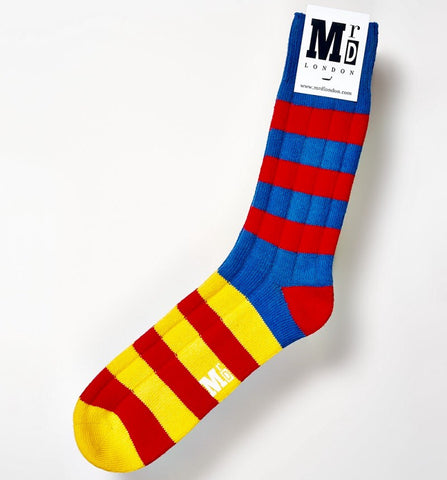 Red Rugby Chunky Striped Socks
