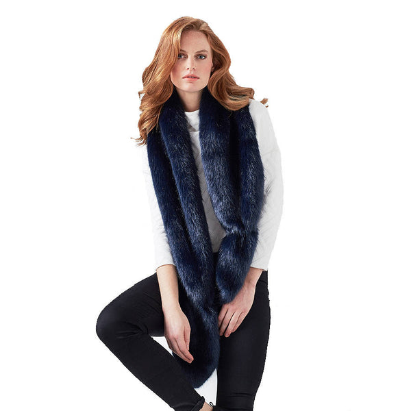 Blue Midnight Faux Fur Vixen Scarf
