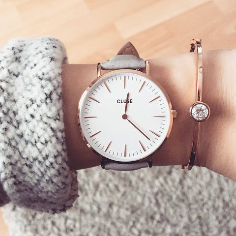 Grey La Boheme Rose Gold CLUSE Watch