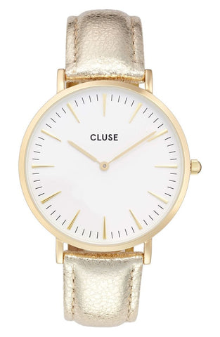 Gold Metallic La Boheme CLUSE Watch