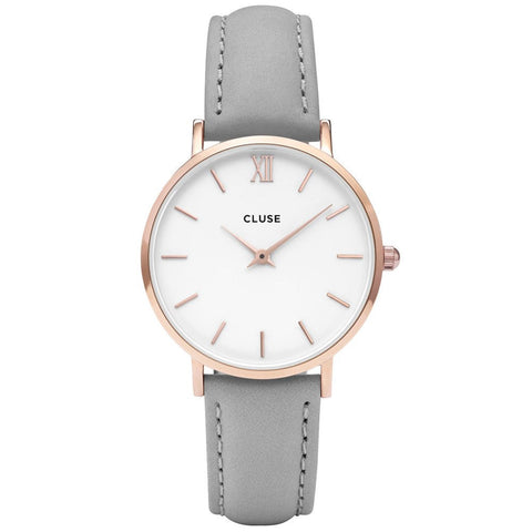 Grey Minuit Rose Gold CLUSE Watch
