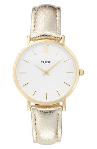 CLUSE Minuit Gold Metallic Watch
