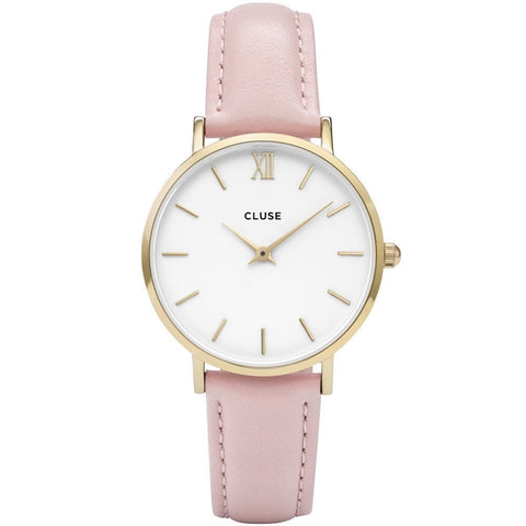 Pink CLUSE Minuit Rose Gold Watch