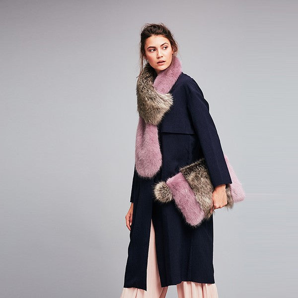 Heather & Lady Jane Grey Faux Fur Two Tone Loop Scarf