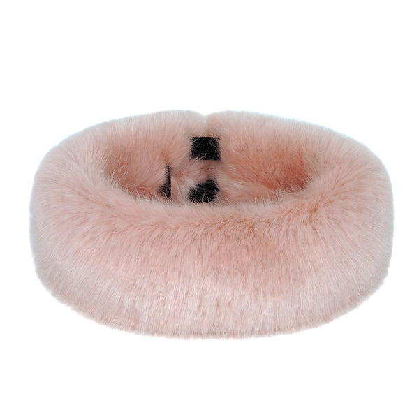 Pink Children's Faux Fur Huff