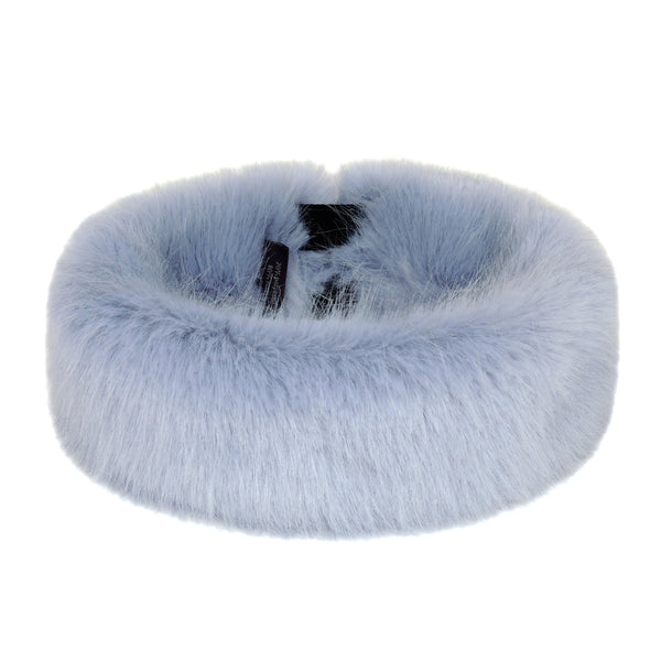 Powder Blue Faux Fur Huff