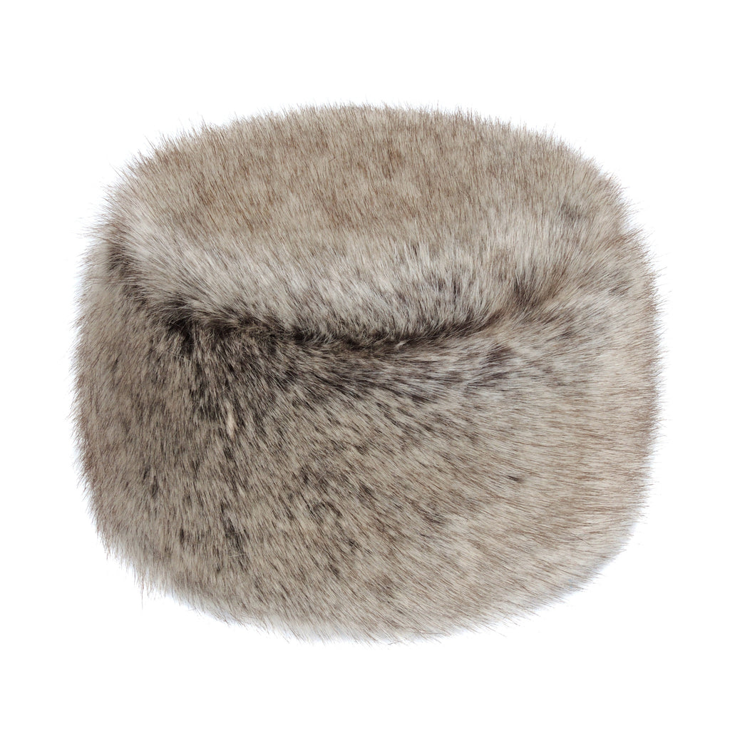 Kids Truffle Faux Fur Pillbox Hat