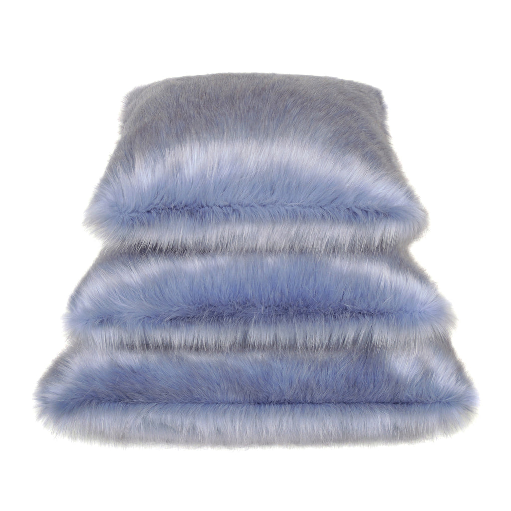 Cornflower Faux Fur Cushions