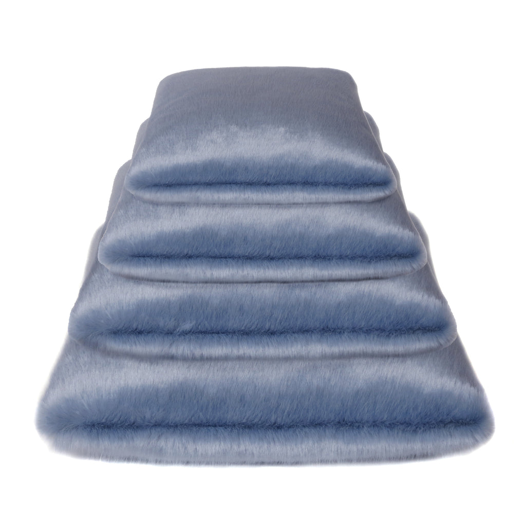 Powder Blue Faux Fur Cushions
