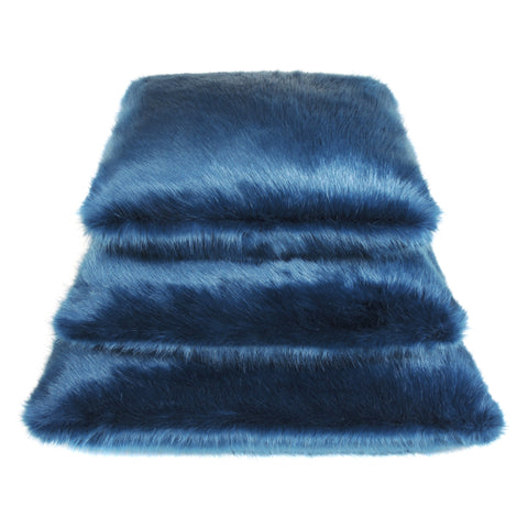 Petrol Blue Faux Fur Cushion