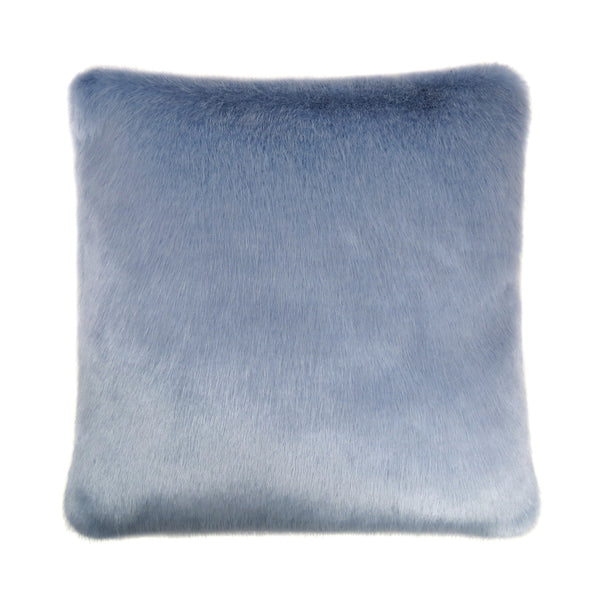 Powder Blue Faux Fur Cushion