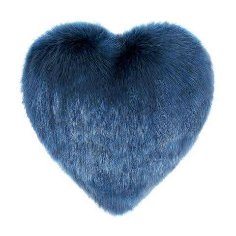 Petrol Blue Boudoir Heart Cushion