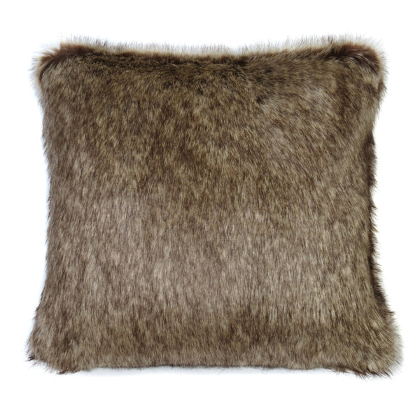 Truffle Faux Fur Cushion