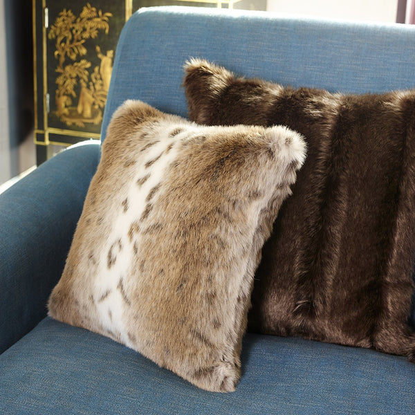 Lynx Faux Fur Cushion