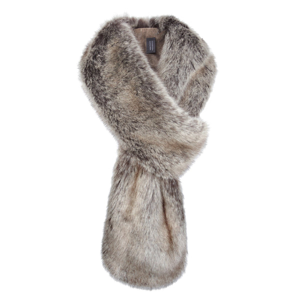 Truffle Faux Fur Loop Scarf