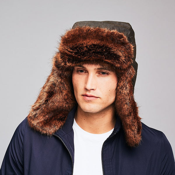 Golden Bear Men's Faux Fur Trapper Hat