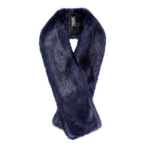 Blue Midnight Men's Faux Fur Tippet Scarf