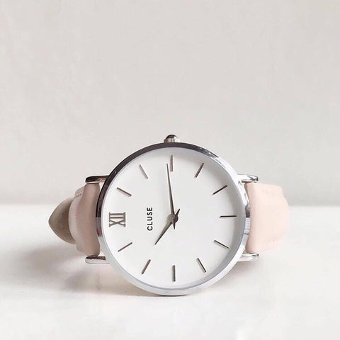 Pink Minuit Silver CLUSE Watch