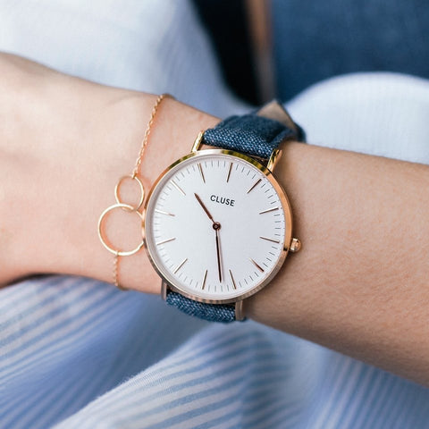 Denim La Boheme Rose Gold CLUSE Watch
