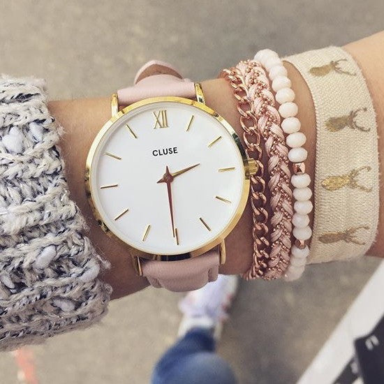 Pink Minuit Gold CLUSE Watch