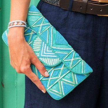 Blue Turquoise/Sea Green Mzuri Clutch Bag