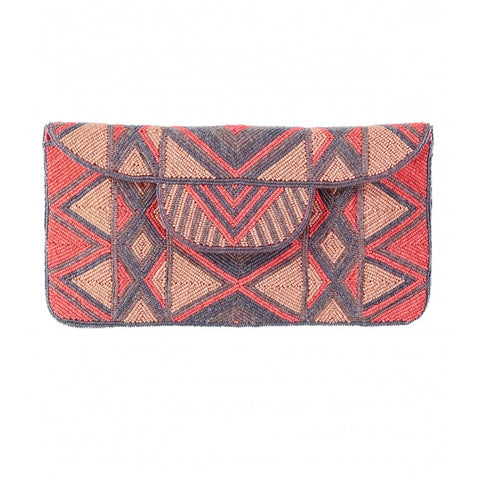 Coral Mzuri Clutch Bag
