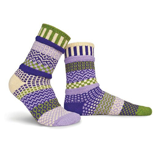Mismatched Knitted Socks (Orchid)